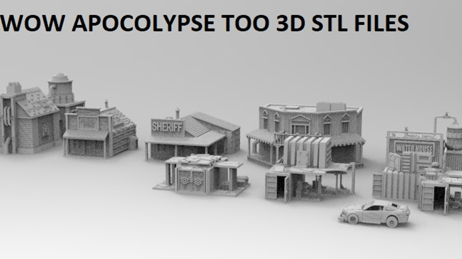 WOW Apocalypse and Modern Warfare 3D printable files in STL KS
