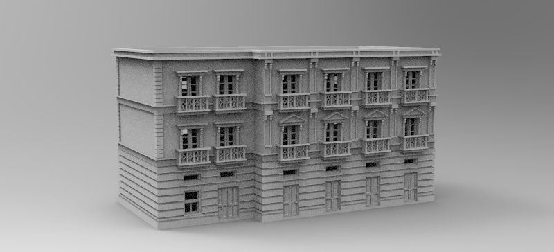 3 Story Apartment Block