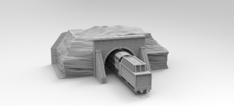 Train Tunnel Entrance (Train not Included)