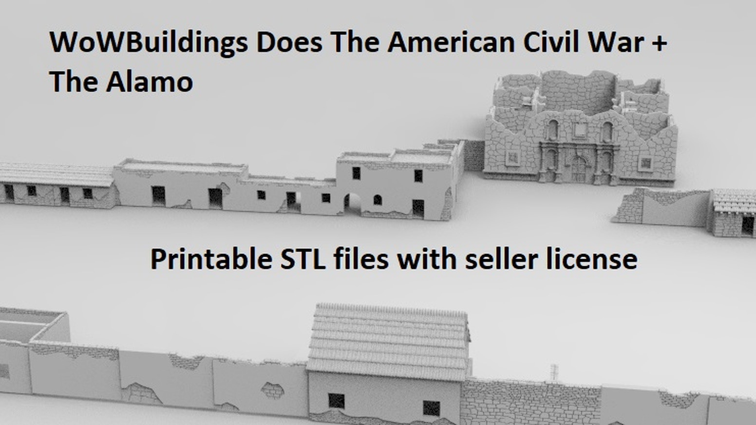 WoW Does American Civil War + The Alamo Terrain Scenery