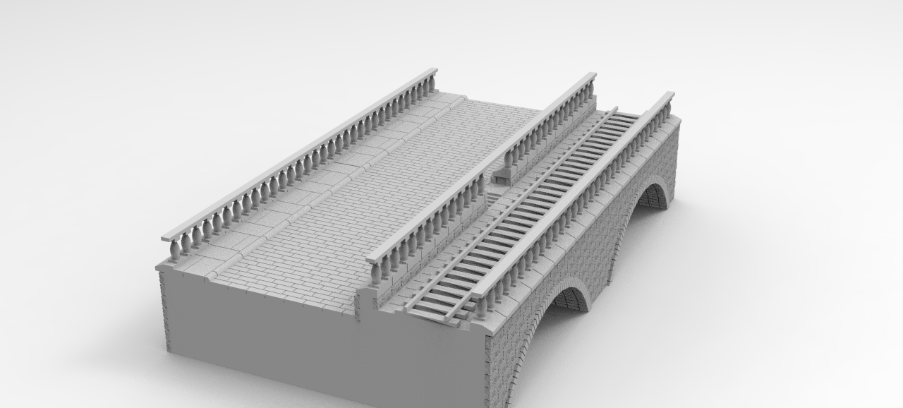 Train and road Bridge